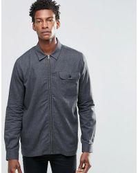 ADPT - Zip Through Shirt Jacket - Lyst