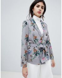 Soaked In Luxury - Floral Suit Jacket - Lyst