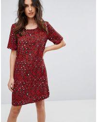 Vila - Leopard Print Dress - Lyst