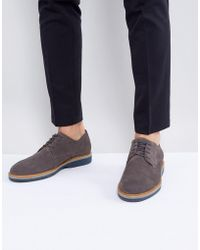 Tommy Hilfiger - Jacob Suede Derby Shoes In Dark Gray - Lyst