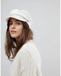 Brixton - Baker Boy Hat In White Cord - Lyst