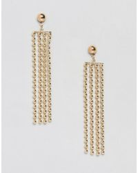 Pieces - Metal Fringe Earring - Lyst