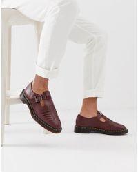 Dr. Martens - Sandalias de tejido color guinda de - Lyst
