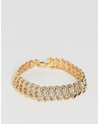 ASOS - Chunky Vintage Style Chain Bracelet In Gold Tone - Lyst