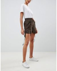ASOS - Design Parachute Shorts With Neon Toggle - Lyst