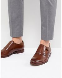ALDO - Catallo Leather Monk Shoes In Tan - Lyst