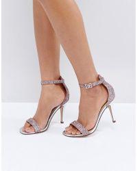 Dune - By Dune Madera Blush Heeled Sandals - Lyst