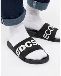 DC Shoes - Bolsa Sliders In Black - Lyst