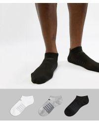 New Balance - 3 Pack No Show Socks In Multi N4010-032-3eu Ast2 - Lyst
