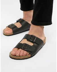 ASOS DESIGN slide sandals in black fashion Style cheap price official site popular cheap price looking for cheap price xaiSa8x