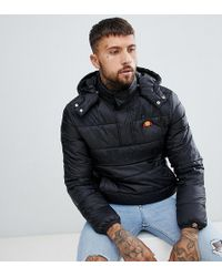 Ellesse - Filardi Padded Overhead Jacket In Black - Lyst