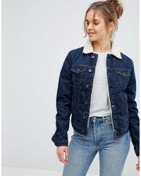 Pepe Jeans - Fleece Collar Denim Jacket - Lyst
