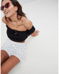 ASOS - Skort In Polka Dot Print With Bunny Tie - Lyst