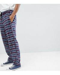 Reclaimed (vintage) - Inspired Track Trousers In Check - Lyst
