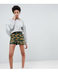 ASOS - Shorts In Smudge Camo Print - Lyst