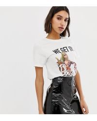Missguided - Barbie Festival Slogan T-shirt - Lyst