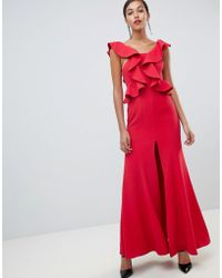C/meo Collective - C/meo Structured Ruffle Maxi Gown - Lyst