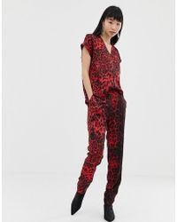 B.Young - Leopard Print Jumpsuit - Lyst