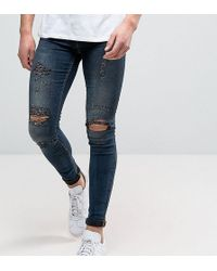 Blend - Flurry Extreme Skinny Fit Jeans Rip And Repair - Lyst