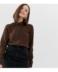 cbe174b0bb85 Monki Eyes Print Cropped Blouse - Lyst