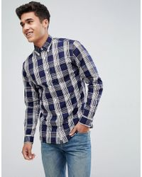 Jack & Jones - Premium Slim Fit Shirt In Check - Lyst
