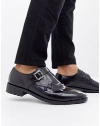Farah - Jeans High Shine Monk Shoe - Lyst