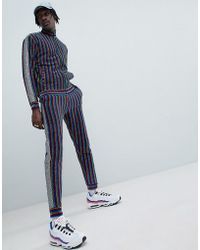 Jaded London - Rainbow Stripe Joggers With Metallic Side Stripe - Lyst