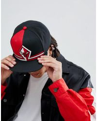 Mitchell   Ness Snapback Cap Pitch Chicago Bulls in Black for Men - Lyst d1305cd44243