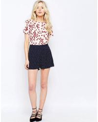 Sugarhill - Ugarhill Boutique Polka Dot Shorts With Bow Deatil - Lyst