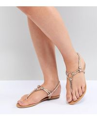 c1bb10694a65 Park Lane Embellished Jelly Flat Sandals - Lyst