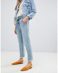 Free People - Hi & Belted Straightcut Jeans - Lyst