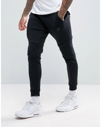 Nike - Tech Fleece Slim Fit joggers In Black 805162-010 - Lyst