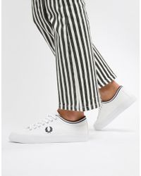 Fred Perry - Kendrick Canvas Trainer With Tipped Cuff - Lyst