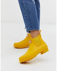 HUNTER Original Chelsea Welly Boot In Yellow