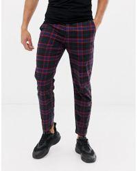 Lyle & Scott - Tartan Check Trouser In Black - Lyst