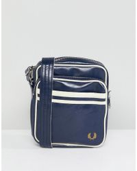 Fred Perry - Classic Flight Bag In Navy - Lyst