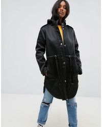 ASOS - Bonded Parka With Fleece Lining - Lyst