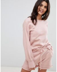 Micha Lounge - Open Back Jumper With Bow Tie Neck Co-ord - Lyst