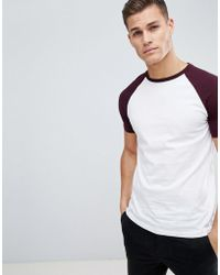 ASOS DESIGN - Muscle Fit Raglan T-shirt With Contrast Sleeves - Lyst
