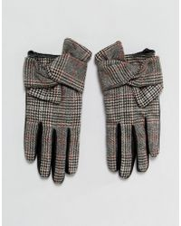 River Island - Leather Checked Driving Glove - Lyst