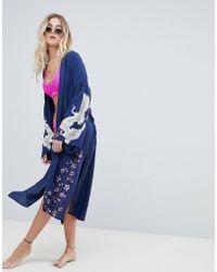 Billabong - Bird Print Beach Kimono - Lyst