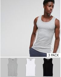 French Connection - 3 Pack Lounge Tank - Lyst