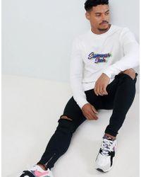 ASOS - Design Muscle Sweatshirt With Summer Sesh Slogan Print - Lyst