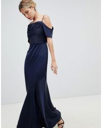 Oasis - Occasion Slinky Cowl Neck Maxi Dress - Lyst