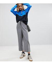 Reclaimed (vintage) - Inspired Stripe Drawstring Wide Leg Trouser - Lyst
