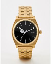 Nixon - X Mickey Mouse Time Teller Watch In Gold - Lyst