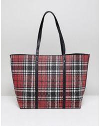 New Look - Tartan Tote Bag - Lyst