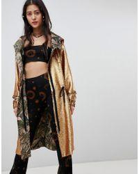 Native Rose - Oversized Festival Parka Jacket In Premium Sequin - Lyst