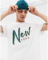 Brooklyn Supply Co. - Organic T-shirt With New York Text - Lyst