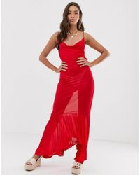 be6b83a28de ASOS Asos Palm Print Maxi Beach Dress in Black - Lyst